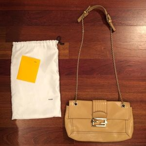Fendi Tan Leather Shoulder Bag